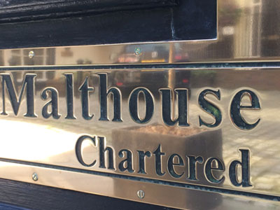 Signage for Malthouse Company